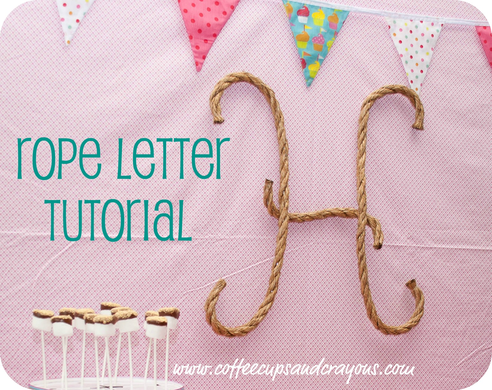 How to make your own rope letters coffee cups and crayons for Rope designs and more