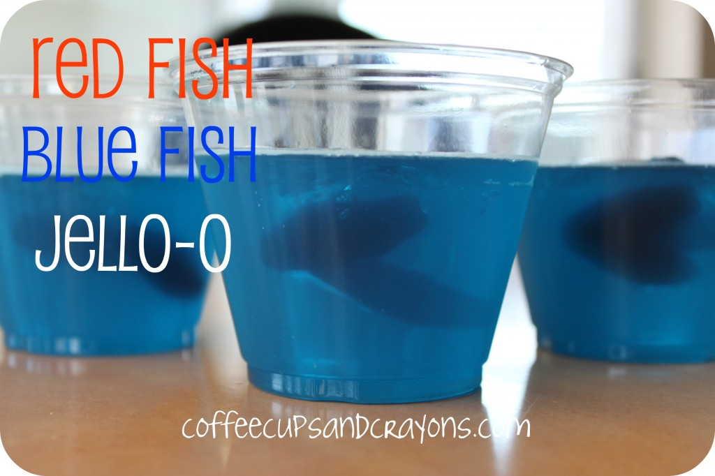 Red Fish Blue Fish Jello Bowls