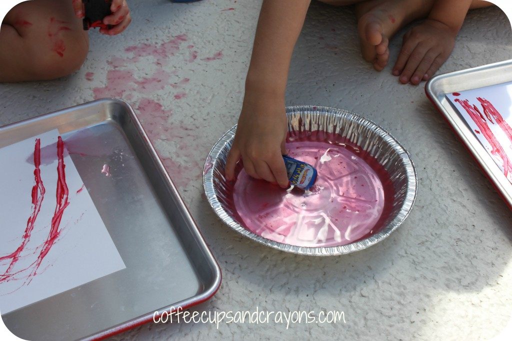 Fun Kids Activity: Rainbow Car Painting