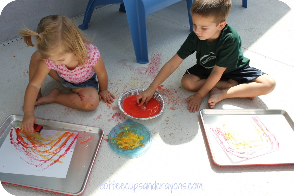Painting Fun for Kids: Rainbow Car Paintings