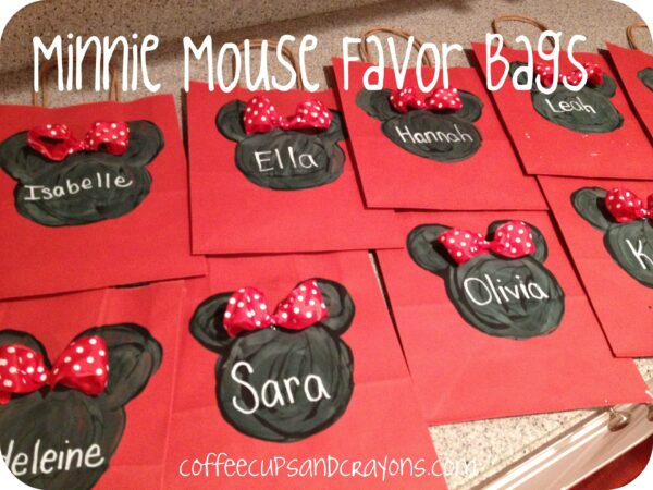 Minnie and Mickey Favor Bags and Mouse Ears