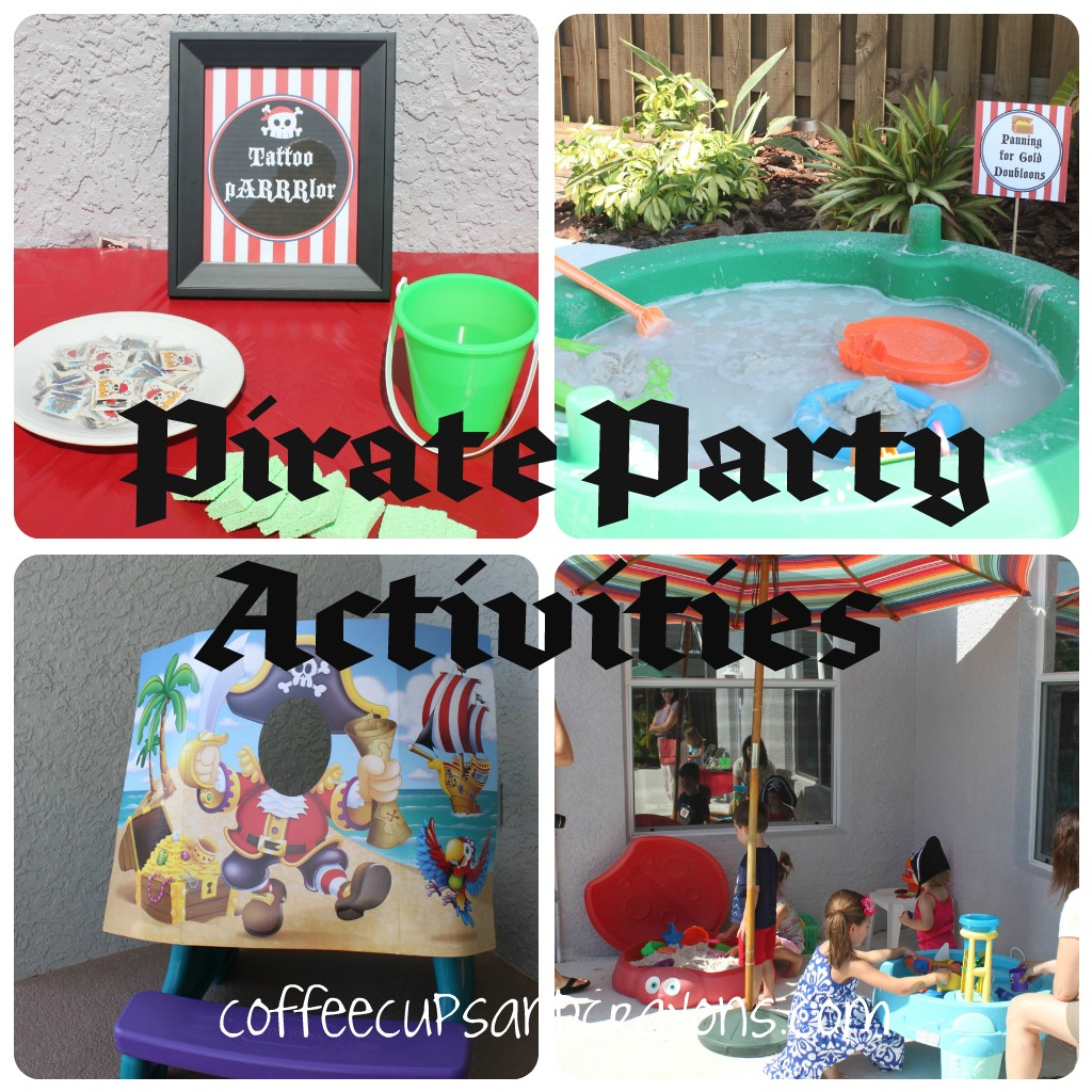 Pirate party ideas coffee cups and crayons for Diy party games for adults