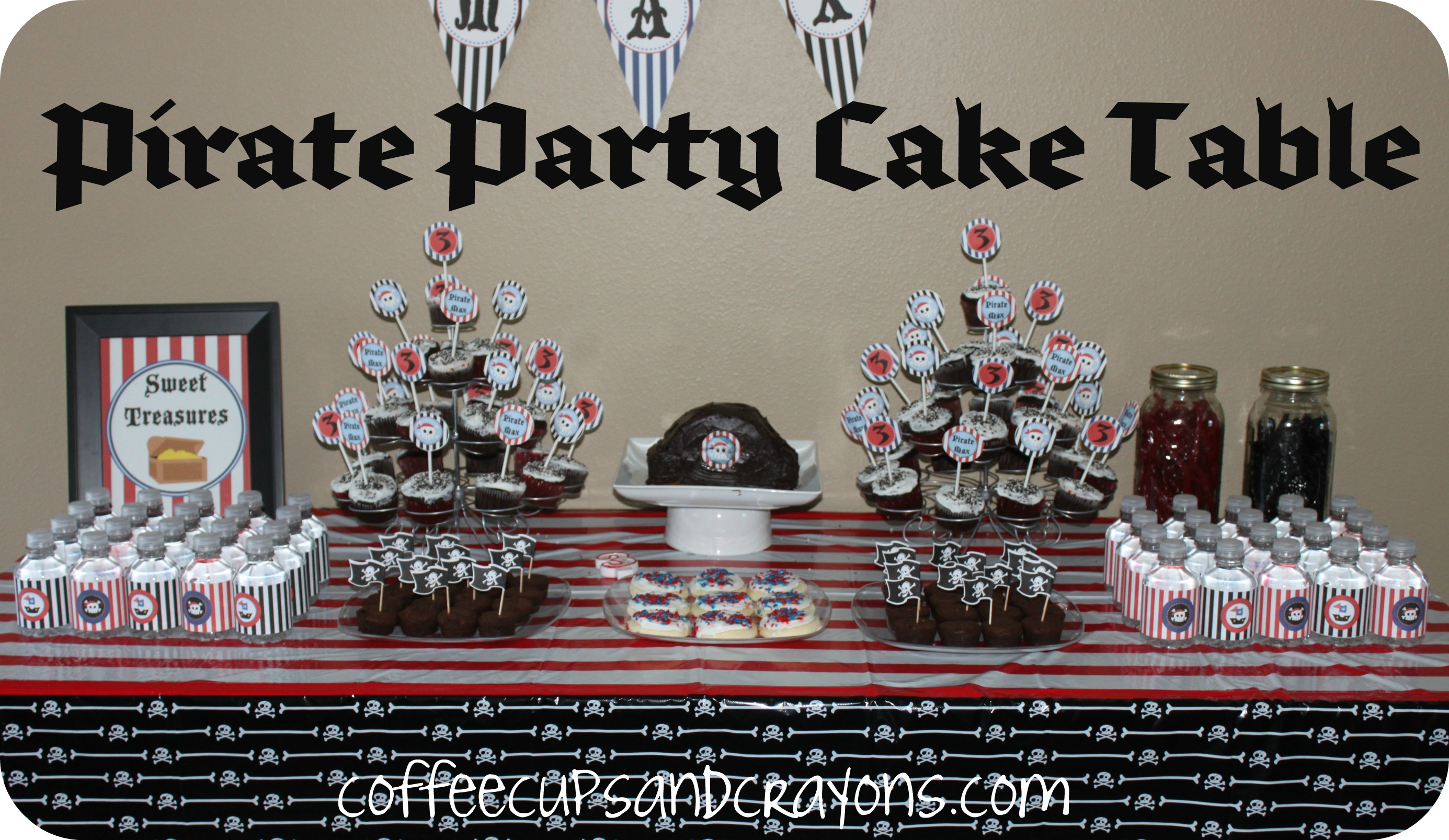 Pirate party ideas coffee cups and crayons for All decoration games