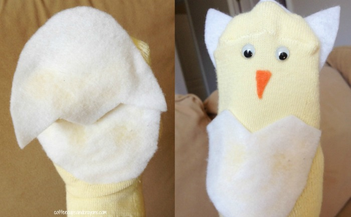 Egg and Chick Puppet Preschool Craft and Song