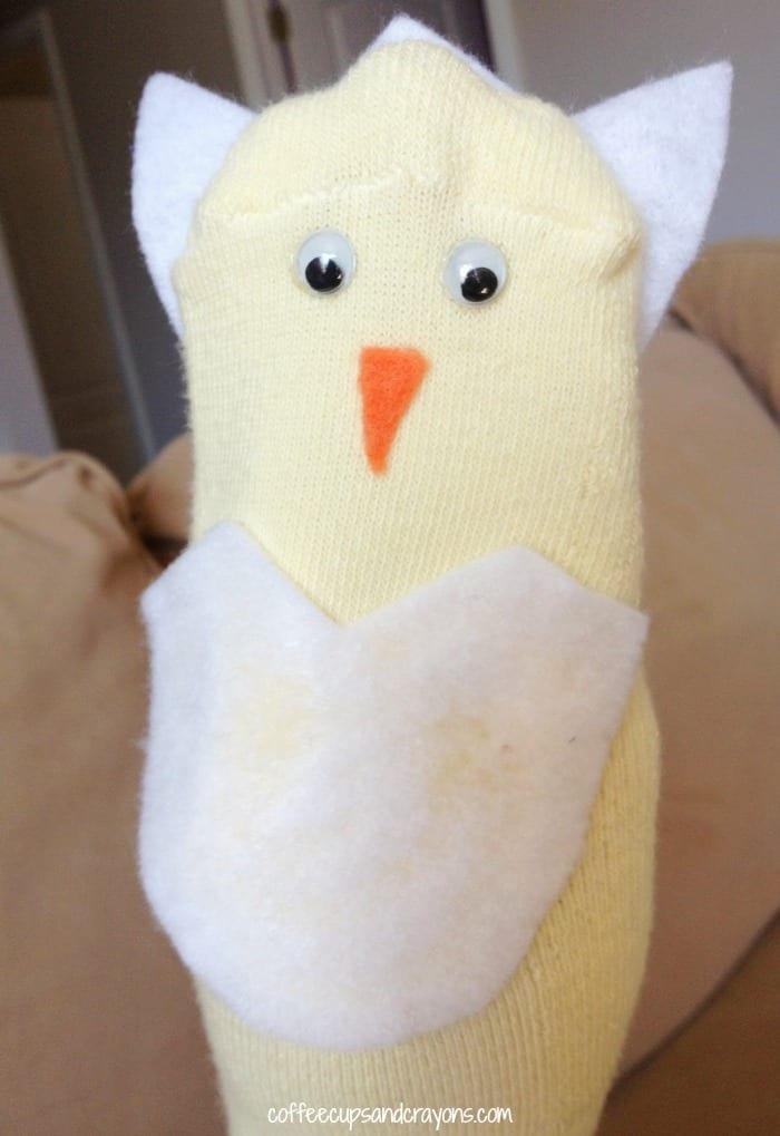 Eggbert the Easter Egg Chick and Egg Puppet for Preschool!