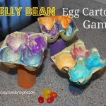 Egg Carton Computer and Jelly Bean Toss Game