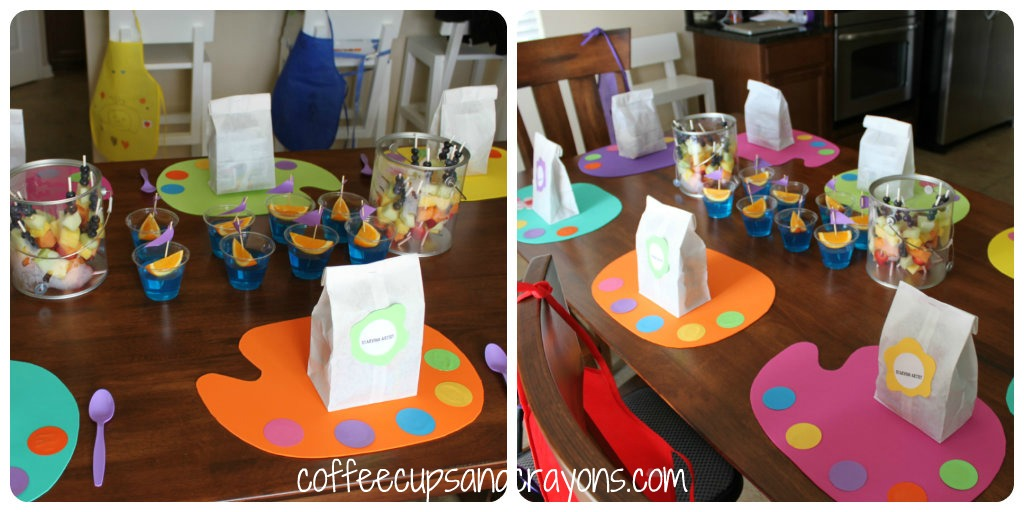 Tangled Art Birthday Party Coffee Cups And Crayons