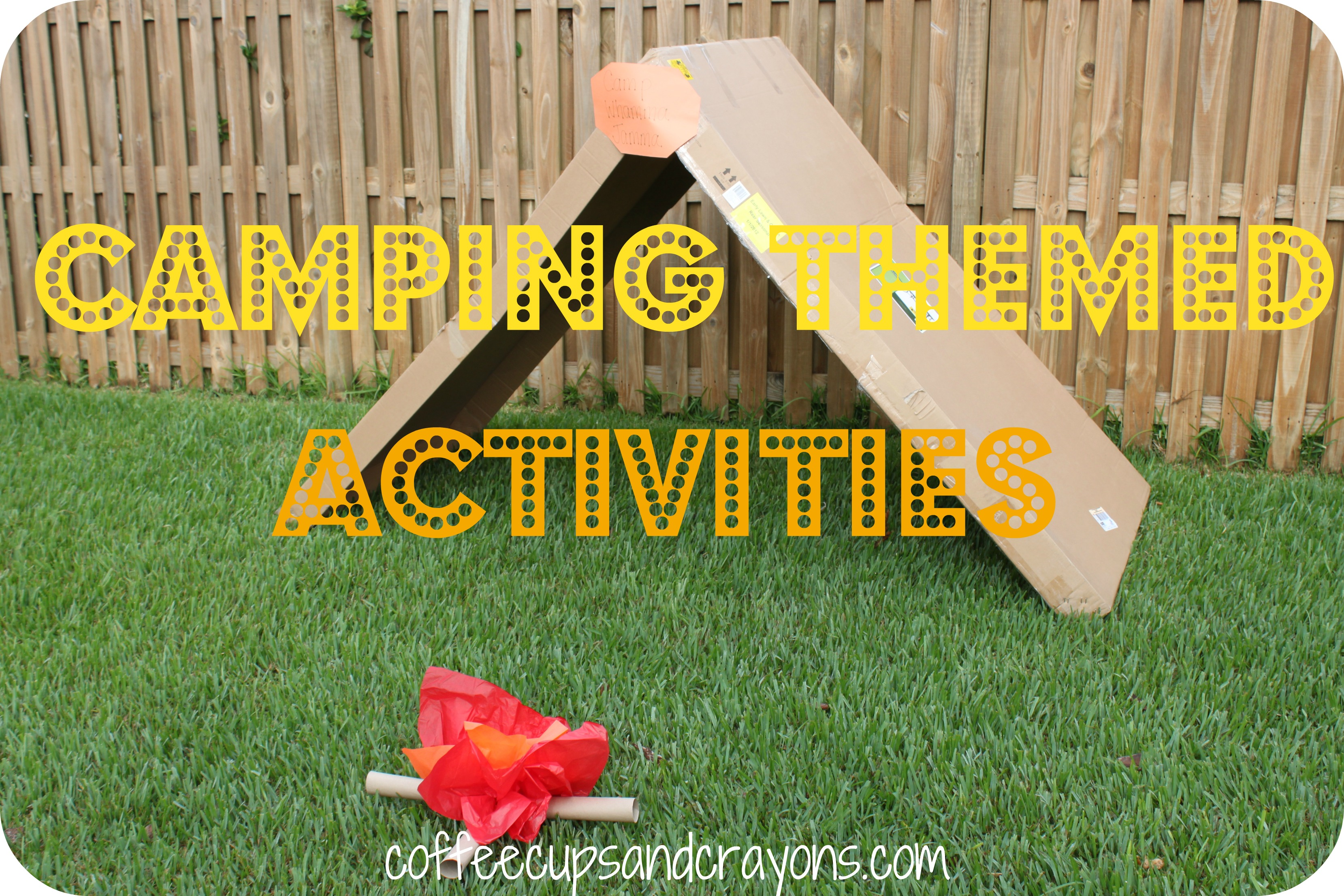 Camping Themed Kids Crafts