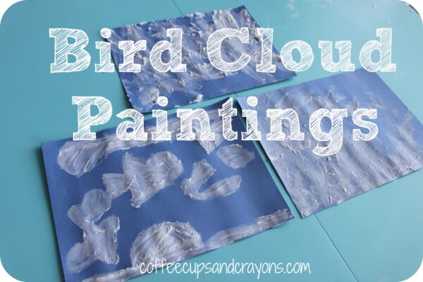 Bird Cloud Painting Activity