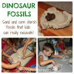 Sand and Cornstarch Dinosaur Fossils