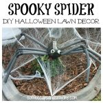 DIY Spooky Spider Lawn Decor