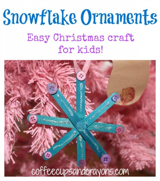 Snowflake Ornaments: Easy Christmas Kids Craft
