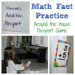 Math Fact Practice: Flashcard Passport Game