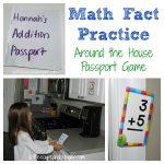 Math Fact Practice: Flashcard Passport Game