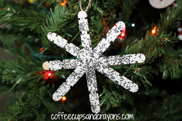Easy Kids Ornament: Craft Stick Snowflakes