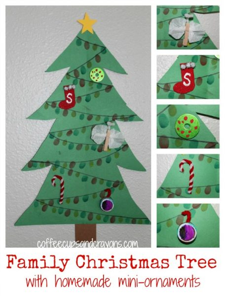 Christmas Crafts for Kids: Family Tree with Mini-Ornaments