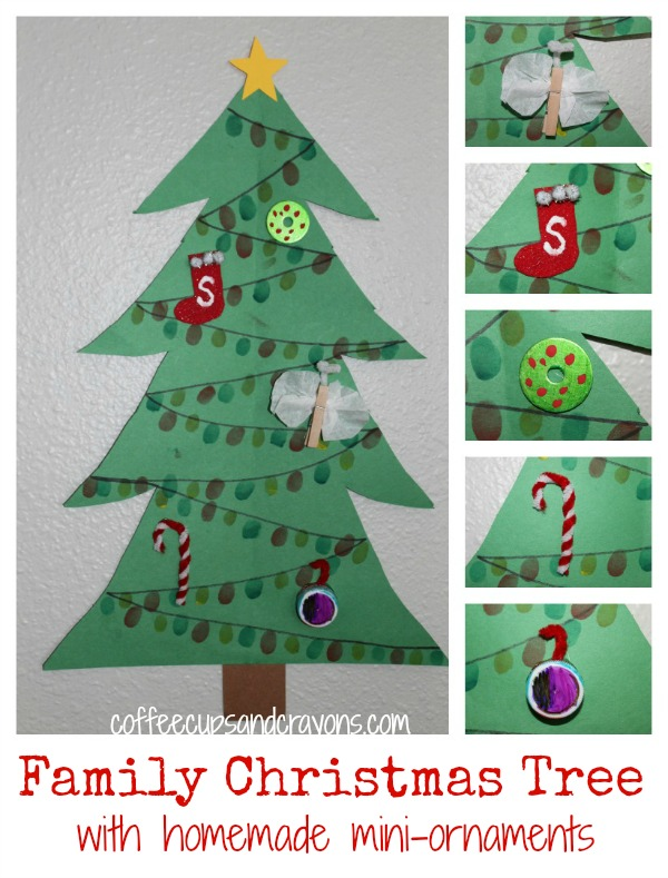 Awesome Christmas Crafts For Family Part - 5: Christmas Craft For Kids: Family Tree With Mini-Ornaments