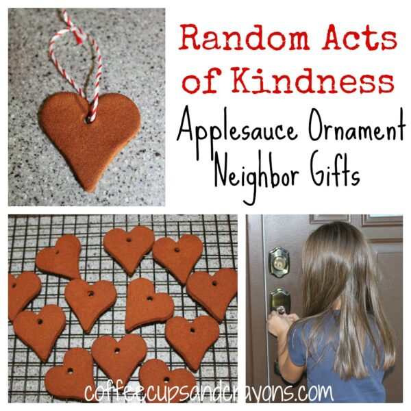 Random Acts of Kindness: Applesauce Ornament Neighbor Gifts