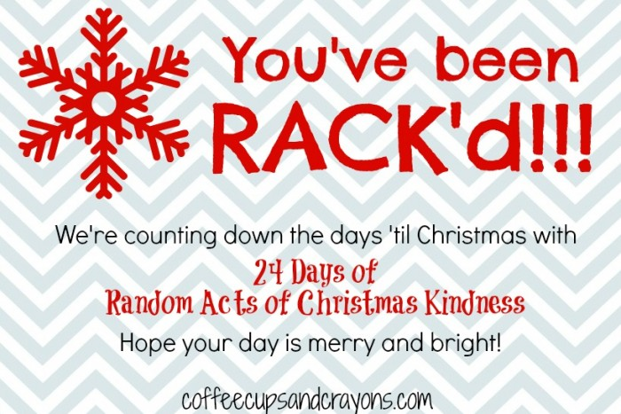 24 Random Acts of Christmas Kindness for Kids | Coffee Cups and ...