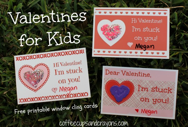 I'm Stuck on You! Valentines for Kids: Free Printable Cards
