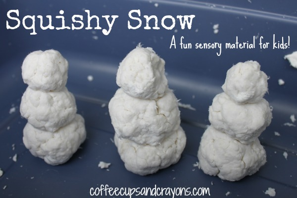 Squishy Snow Sensory Material for Preschool