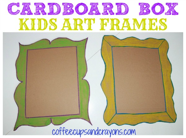Cardboard Box Kids Art Frames