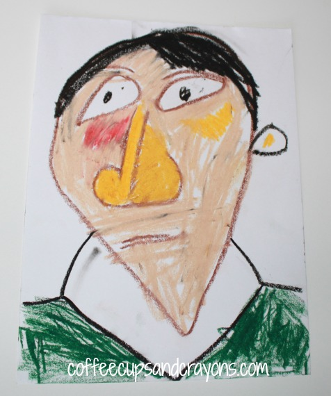 Kids Art Projects: Easy Picasso Portaits