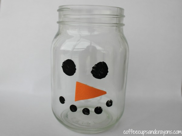 Snowman Playdough Jar