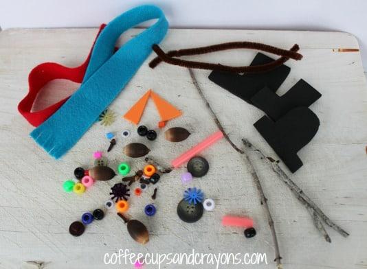 Snowman Playdough Accessories