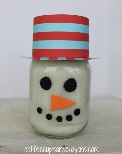 White Snowman Playdough Party Favor