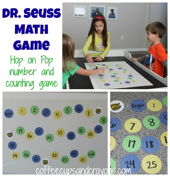 Dr. Seuss Math Game: Hop on Pop Counting Game from Coffee Cups and Crayons