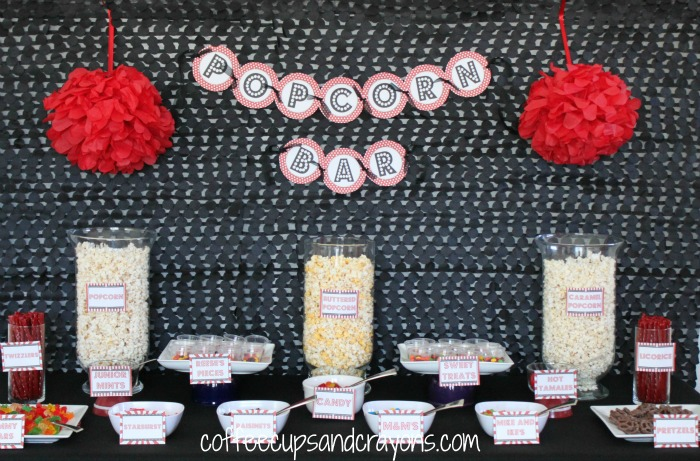 Popcorn Bar for Movie Party