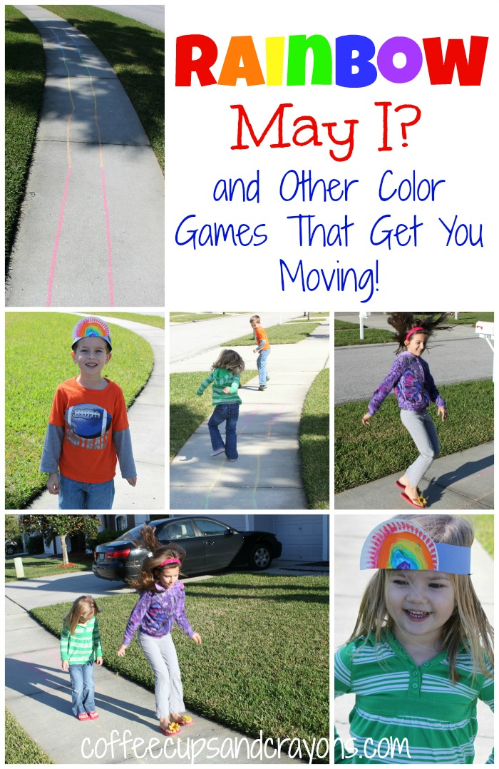 Rainbow Outdoor Games for Preschoolers from Coffee Cups and Crayons