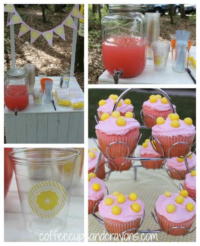 Girls Pink Lemonade Stand Birthday Party