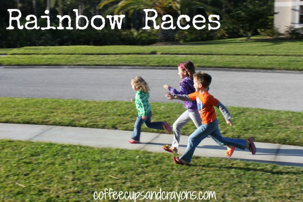 Rainbow Races and Other Games to Play Outside with Preschoolers