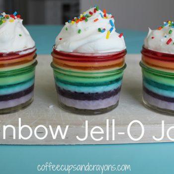 Rainbow Jell-O in a Jar Recipe