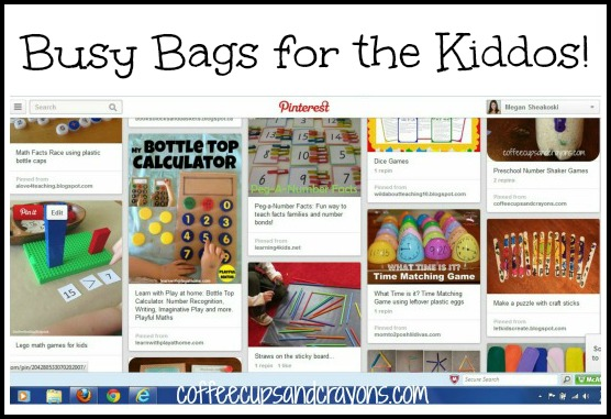 Busy Bags for the Kiddos Pinterest Board