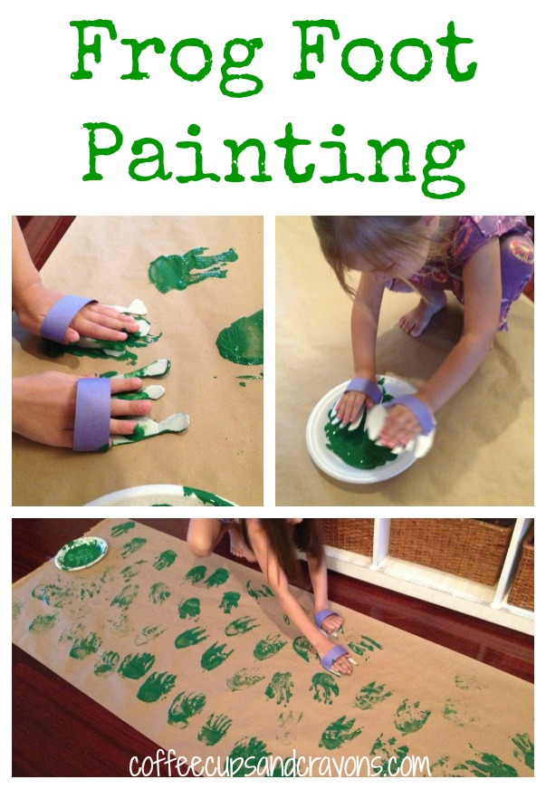 Big Art for Kids Frog Feet Prints