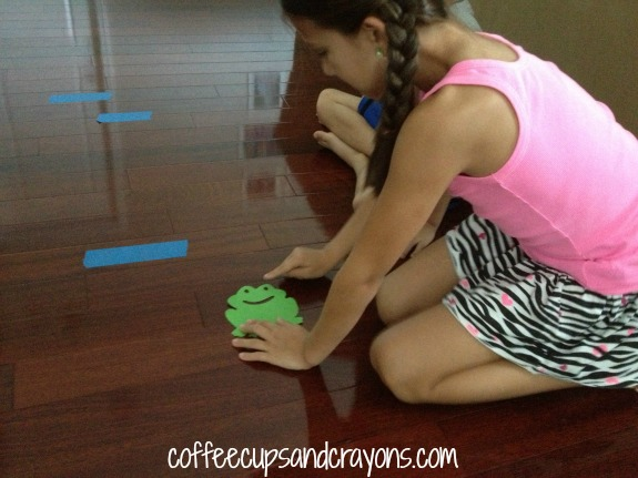 Frog Jump Non Standard Measurement Activity