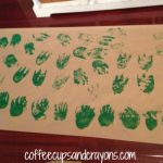 Art Activity for Children: Frog Foot Prints