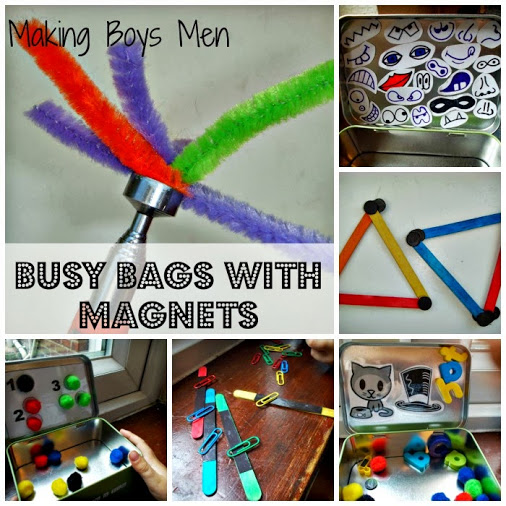 Busy Bags with Magnets from Making Boys Men