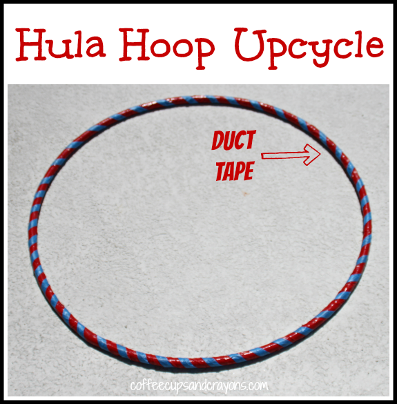 Duct Tape Hula Hoop Craft for Kids