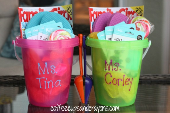 Gift Idea for Teachers Relaxation Buckets