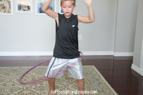 Kids Craft Duct tape hula hoop!