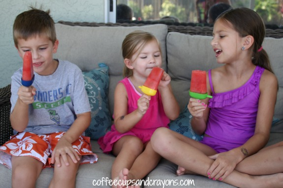 Super Healthy Watermelon Popsicles for Kids