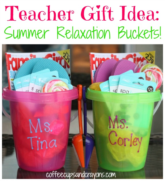 Teacher gifts ideas for gifts that teachers will love summer bucket teacher gift idea negle Image collections
