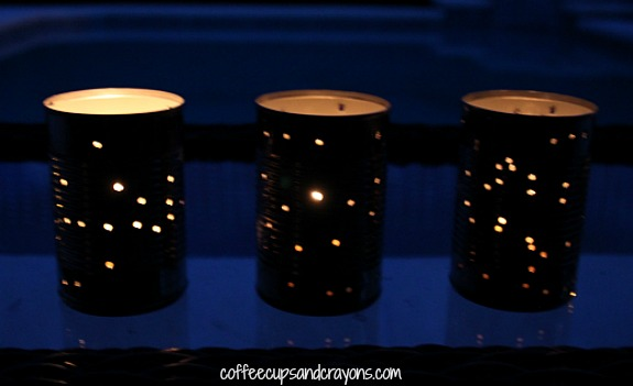 How to Make Tin Can Lanterns. A fun and simple kids craft for summer!
