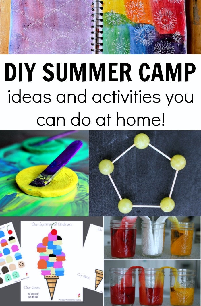 Summer Camp at Home Ideas! Everything from acts of kindness to science to math to art and more! A huge list of ideas!