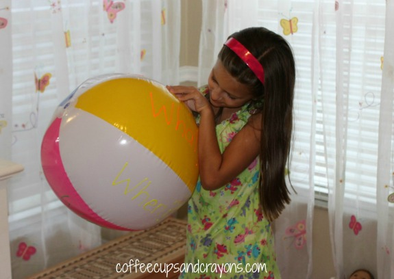 Question Ball Move and Learn Activity