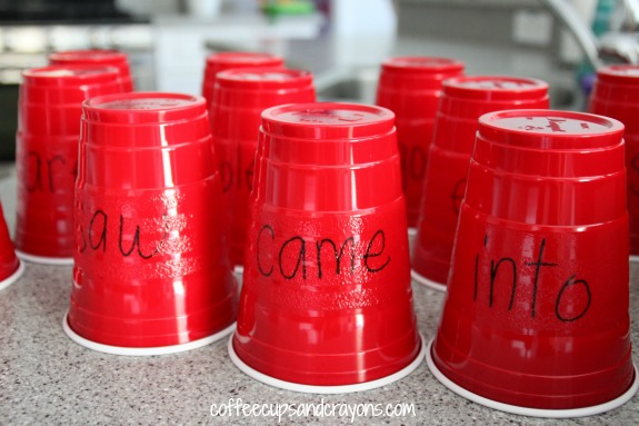 Gross Motor Sight Word Game